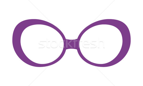 Pretty Lilac Glasses Template Colorful Poster Stock photo © robuart