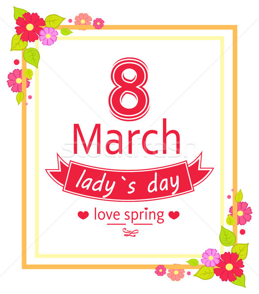 8 March Womens Day Placard Vector Illustration Stock photo © robuart
