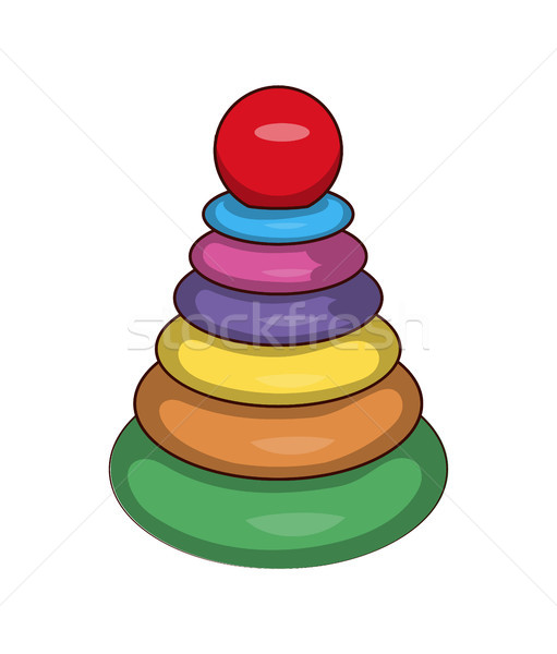 Cones Games and Toys Set, Vector Illustration Stock photo © robuart