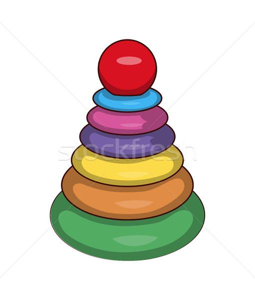 Játékok játékok szett nagyobb műanyag körök Stock fotó © robuart