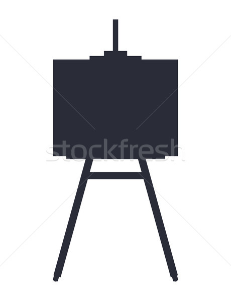 Festőállvány fekete sziluett tárgy művészet iskola Stock fotó © robuart