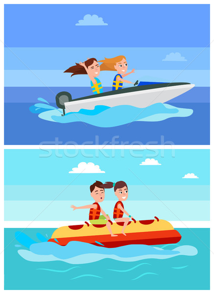 Summer Recreation Collection Vector Illustration Stock photo © robuart