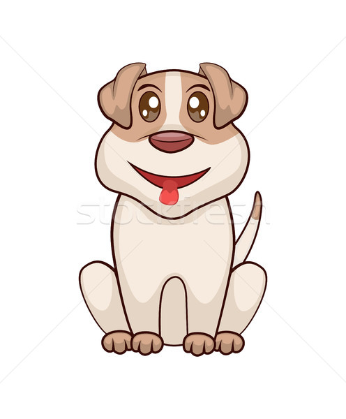 Friendly Puppy with Big Shiny Eyes and Open Mouth Stock photo © robuart
