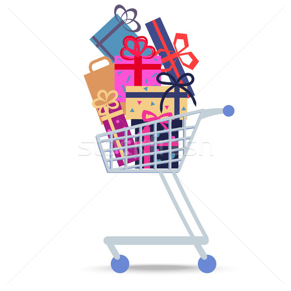 Shopping Trolley Full of Different Purchases. Stock photo © robuart