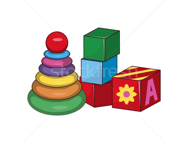 Children s Pyramid, Cubes First Baby Constructors Stock photo © robuart