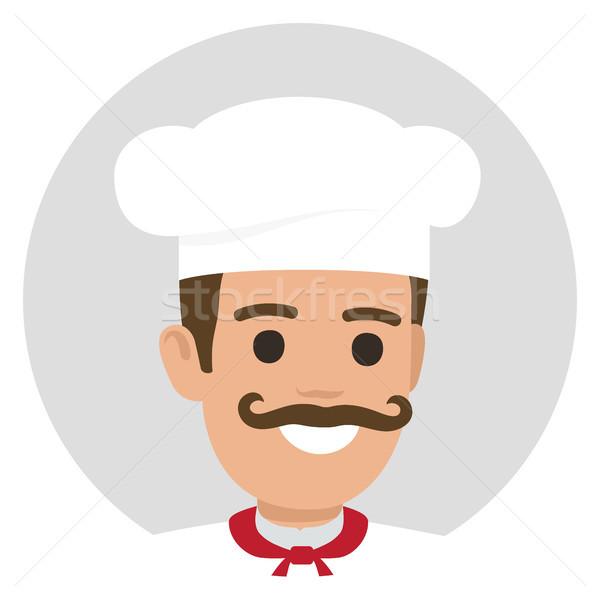 Sorridere avatar profilo bianco tunica ritratto Foto d'archivio © robuart