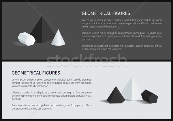Geometrical Figures 3D Set Vector Illustration Stock photo © robuart