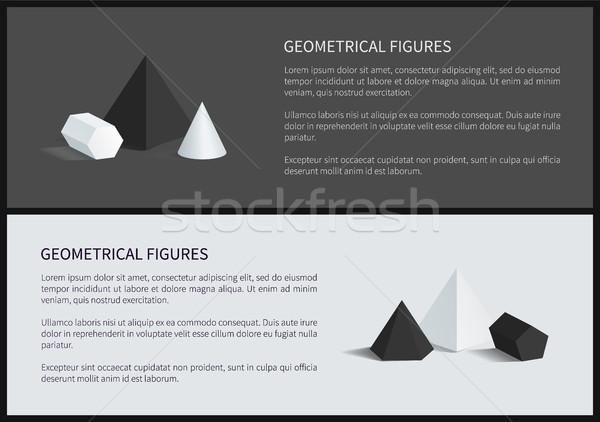 Stock photo: Geometrical Figures 3D Set Vector Illustration