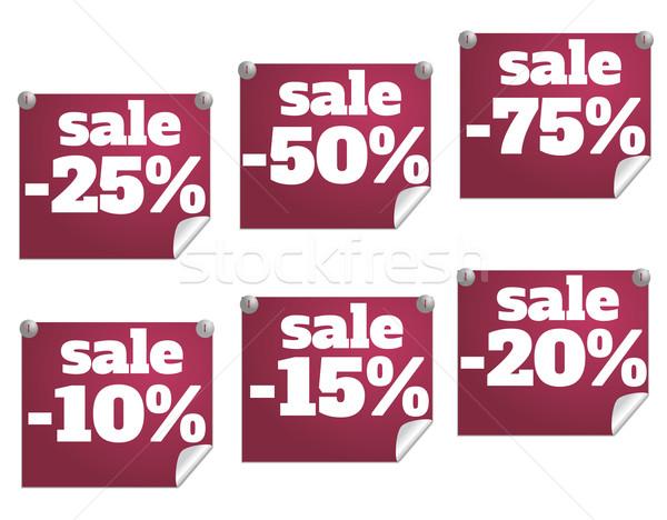 Descuento texto números color regalo tienda Foto stock © robuart