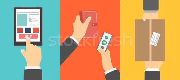 Clients hands purchasing work Stock photo © robuart