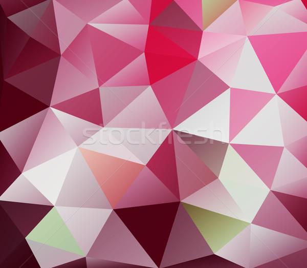 Triangolo rosso abstract stile moderno sfondo arte Foto d'archivio © robuart