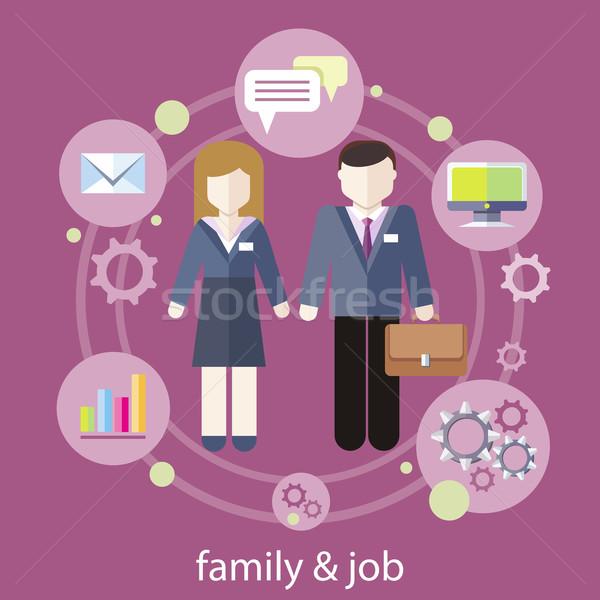 Balance between work and family life Stock photo © robuart