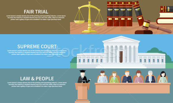 Fair trial. Supreme court. Law and people Stock photo © robuart
