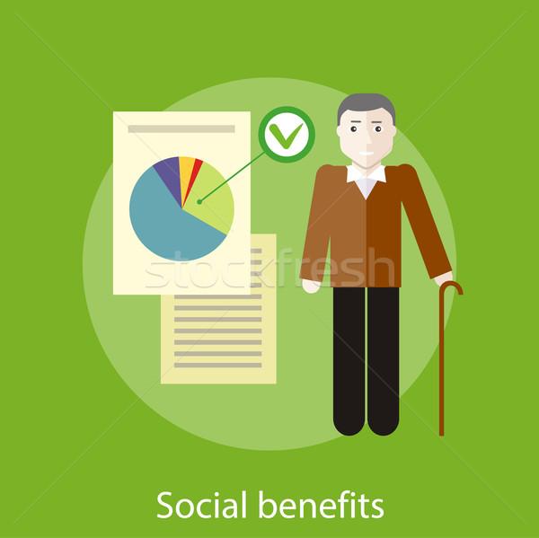 Social Benefits Concept Stock photo © robuart