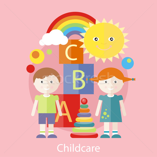 Childcare concept Stock photo © robuart