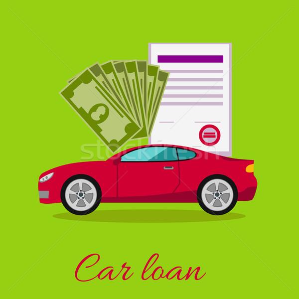 Autó kölcsön elismert irat dollár pénz Stock fotó © robuart