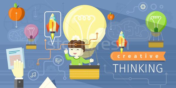 創造的思考 デザイン 創造 考え アイデア ビジネス ストックフォト © robuart