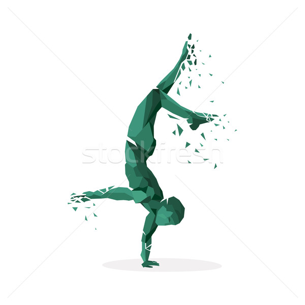 Geométrico partícula correr dançar pessoas Foto stock © robuart