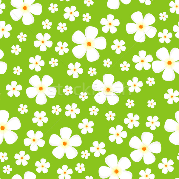 Seamless Pattern with Meadow Alpic Flowers. Stock photo © robuart