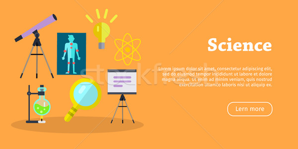 Science Banner. Scientific Equipment. Research Stock photo © robuart