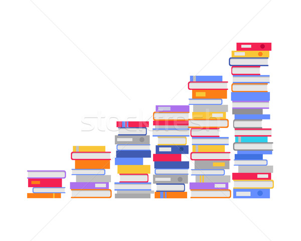 Stack of Books in the Form of Stairs. Vector Stock photo © robuart