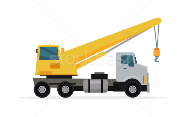 Telescopic Truck Crane Vector in Flat Design Stock photo © robuart
