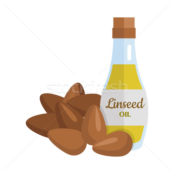 Linseed Oil Vector Illustration in Flat Design. Stock photo © robuart