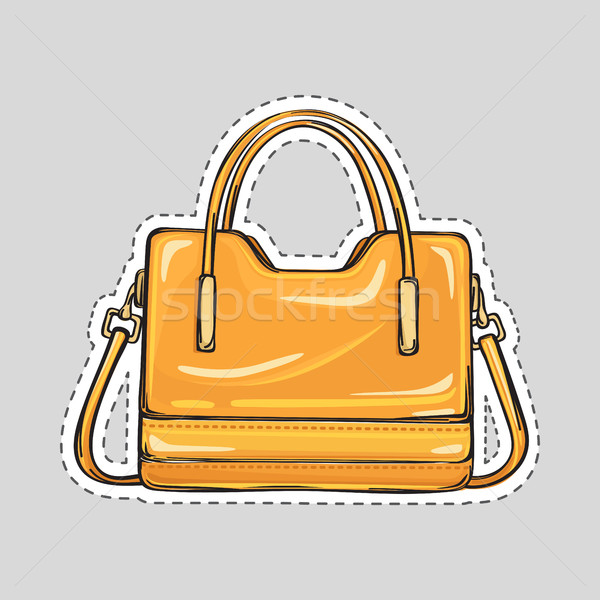 Ladies Handbag with Handle and Clips Isolated Stock photo © robuart