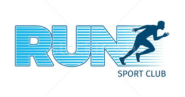 Running Sportsman on White Background. Sport Club Stock photo © robuart