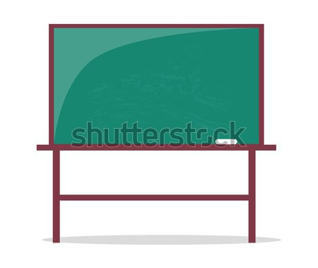 Empty Blackboard with Piece of Chalk Vector Illustration Stock photo © robuart