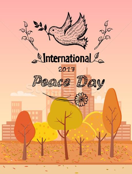 международных мира день логотип голубя Сток-фото © robuart