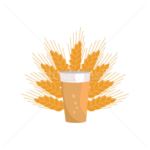 Pint of Dark Beer in Transparent Glass Vector Icon Stock photo © robuart