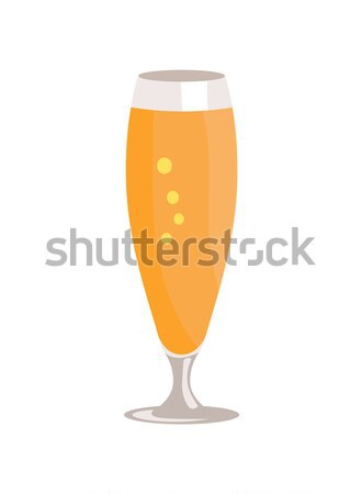 Beers Snifter in Transparent Glassware Vector Stock photo © robuart