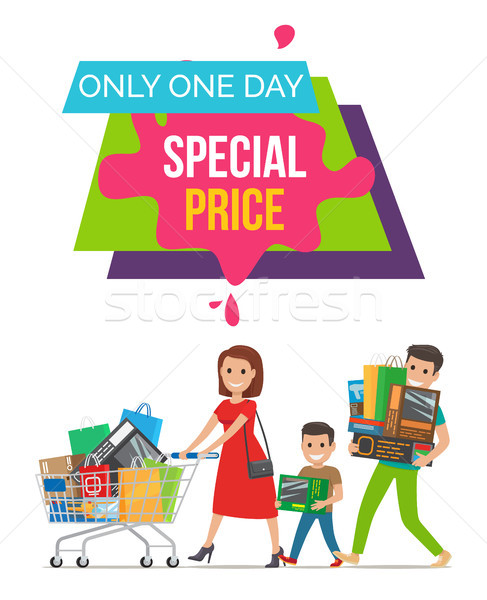 Only One Day Special Price Vector Illustration Stock photo © robuart