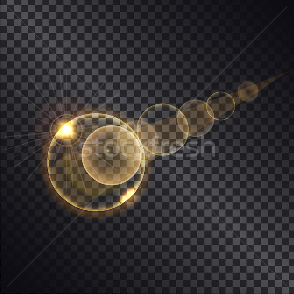 Golden Lght Effect of Circle Growing Round Spheres Stock photo © robuart