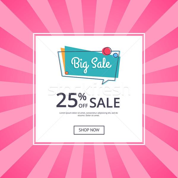 Grande venta anunciante 25 por ciento Foto stock © robuart