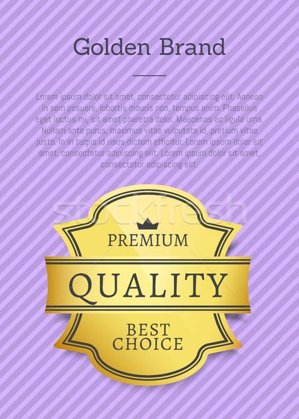 Złoty marka premia ekskluzywny jakości Zdjęcia stock © robuart