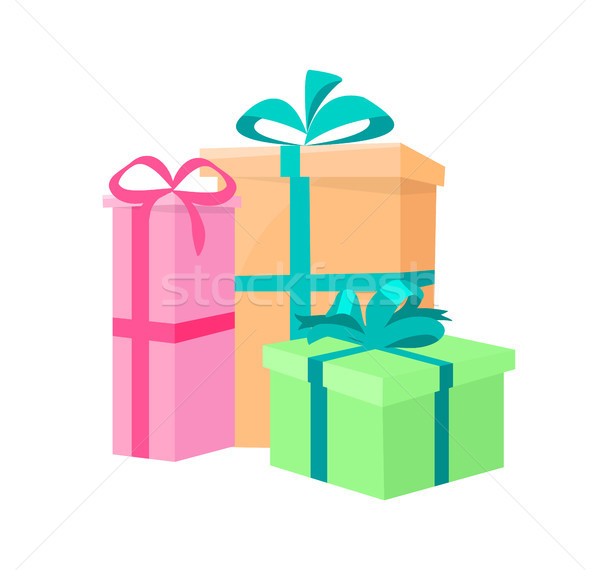 Presents Packed Gifts, Shipping Containers Vector Stock photo © robuart