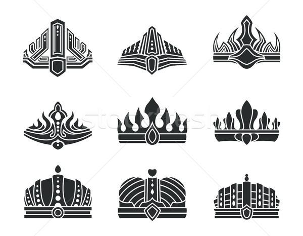 ロイヤル 珍しい デザイン モノクロ セット シャープ ストックフォト © robuart