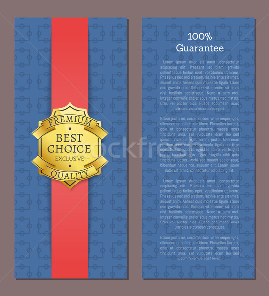Guarantee Best Choice Exclusive Premium Quality Stock photo © robuart