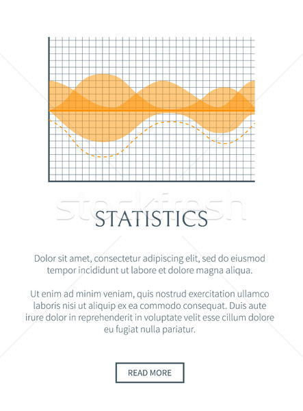 Statistiek website tekst monster knop grafiek Stockfoto © robuart