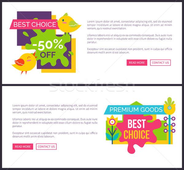 Vektor online vízszintes bannerek prémium áru Stock fotó © robuart
