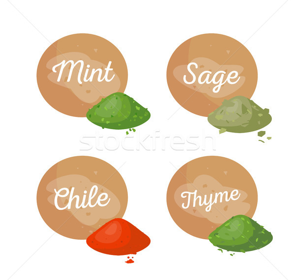 Mint and Sage Collection, Vector Illustration Stock photo © robuart