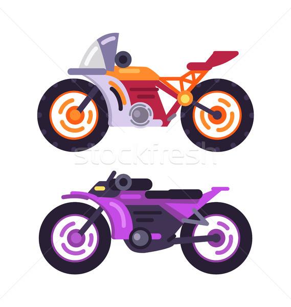 Motorbikes Concepts Isolated on White Background Stock photo © robuart