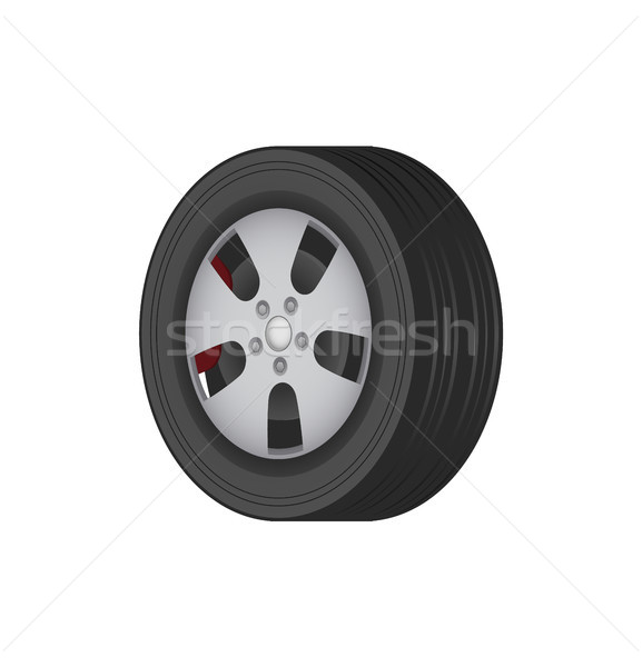 Car Tire of Solid Best Quality Rubber for Winter Stock photo © robuart