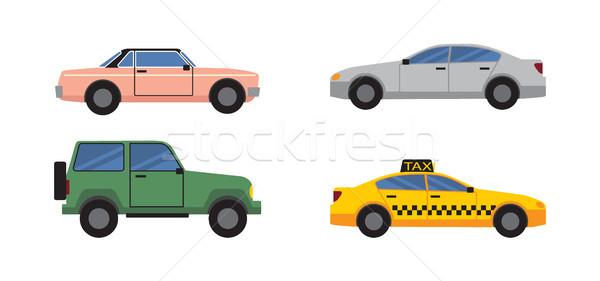 автомобилей набор различный цвета коллекция цветами Сток-фото © robuart