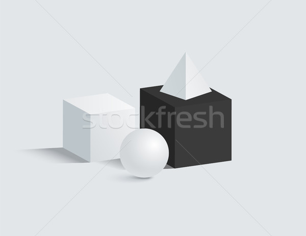 Isolated on White Prisms Set Vector Illustration Stock photo © robuart