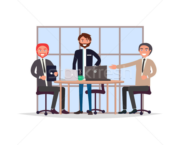 Business Meeting in Office Vector Illustration Stock photo © robuart