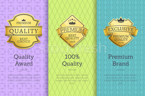 Quality Award Premium Brand 100 Seal Set Labels Stock photo © robuart