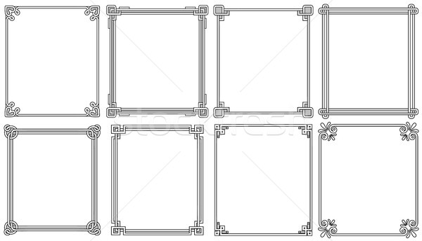 Ornamental Frames with Corners in Different Style Stock photo © robuart